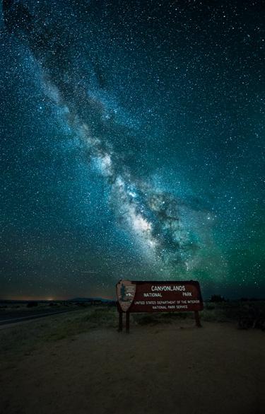 Canyonlands National Park Entrance at 1:00 AM